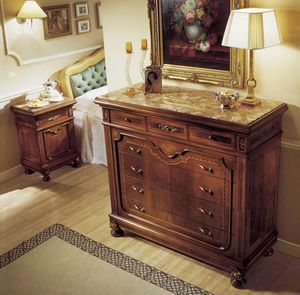 Chest of drawers, Commode de style, dessus de marbre