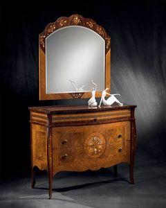 CO12 Pois commode, Dresser classique en bois franc, le plancher en bois de rose