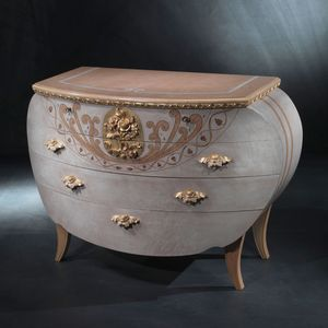 CO17 Vanity commode, Coiffeuse de style, bois, d�corations de feuilles d'or