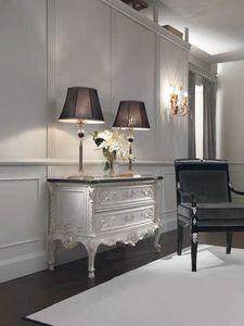 Opale commode, Commode de style classique avec dessus en marbre