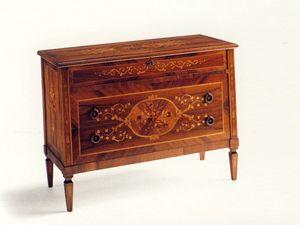Keats, Coiffeuse de style avec trois tiroirs, en �pic�a