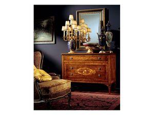Maggiolini chest of drawers 824, Commode en bois avec trois tiroirs