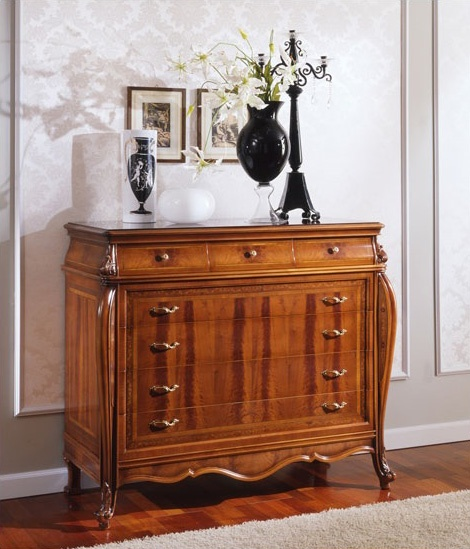 OLIMPIA B / Commode, Dresser avec tiroirs en style ancien, sculpté à la main