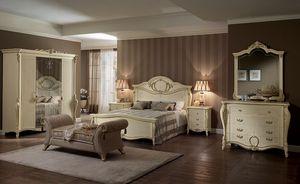 Tiziano commode, Coiffeuse de style, quatre tiroirs, pour les chambres et les hôtels de luxe