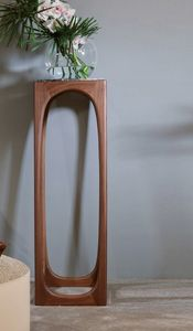 FIDA Pi�destal / Porte-vase, Pi�destal en bois massif et marbre