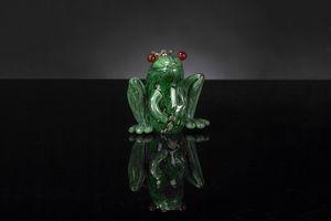 Prince Frog, Grenouille en verre décorative