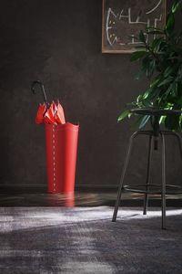 Umbrella, Porte-parapluie en cuir rouge, disponible dans d'autres couleurs