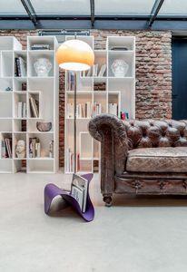 FLY, Support en métal incurvé et du cuir, pour la maison et le bureau Magazine
