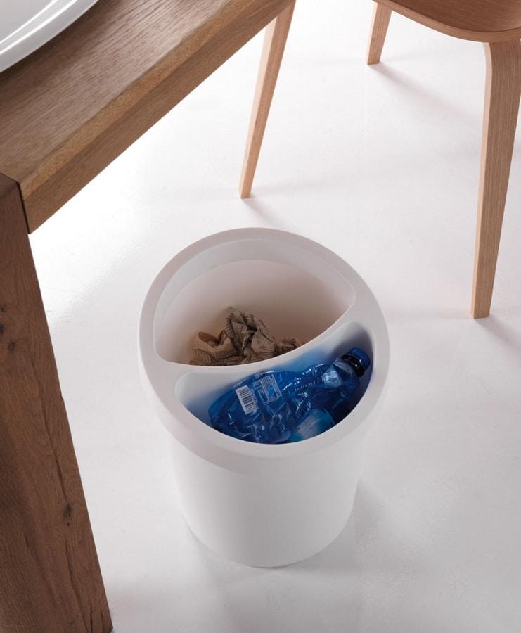 Hi-Tech 2, Empilable corbeille à papier en polypropylène