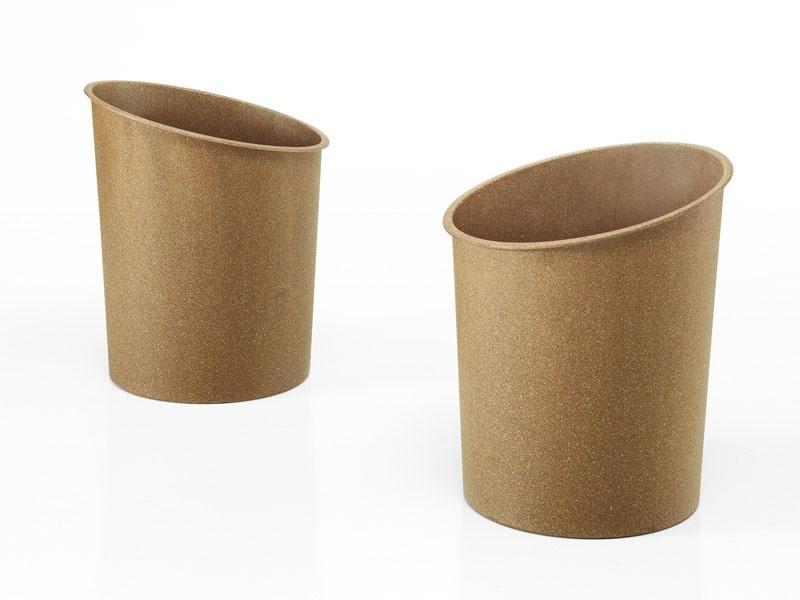Hi-Tech eco, Corbeille empilable peut en bois fibre recyclée