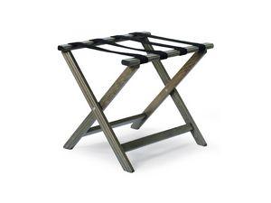Porte-valise D, Base de support en hêtre et cuir, pliable et durable
