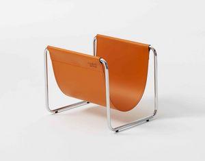 Ugo, Magazine métal et cuir, pour les salons et les bureaux