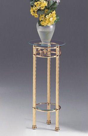 VIVALDI 1094, Colonne de laiton avec plateau en verre, pour la maison