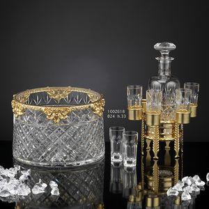 100Z6xx, Ensemble d'accessoires de luxe en or 24 carats et bronze cristal