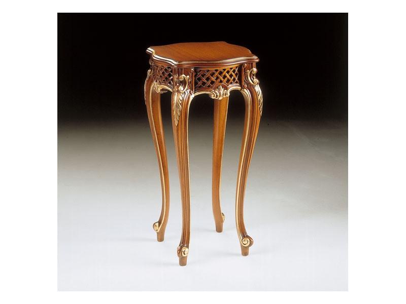 Art. 905, Table pour lampe, luxe classique, fini noyer
