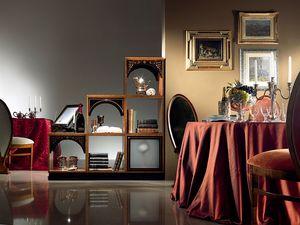 DV01 Dandy, Panneau modulaire en bois, dans le style de luxe classique