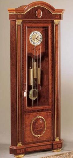 IMPERO / Grandfather corner clock , Comtoise en frêne, style classique de luxe