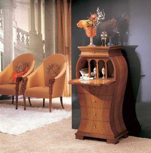 MB21 Iris, Classique de Cabinet, bois incrusté de nacre