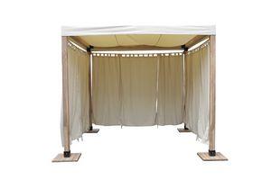 Venezia 849, Simple gazebo en bois et simple avec couvercle en tissu