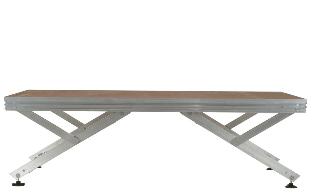 Unistage, Plate-forme modulaire pour composer les étapes, les tribunes et les passerelles