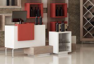 Revolution - comptoir caisse pour magasin de vin, Caisse pour les magasins et les cavistes