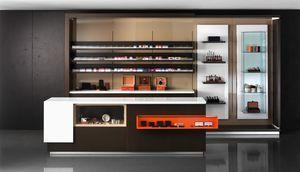 Revolution - Comptoir pour les buralistes et le papeterie, Comptoir caisse, avec vitrine