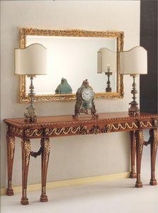 2790 CONSOLE, Consolle en bois sculpté, style classique de luxe