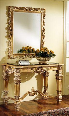 3100 CONSOLE, Table console sculptée adapté pour les hôtels de luxe