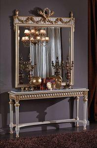 3425 CONSOLE, Console avec dessus en marbre, de style Louis XVI