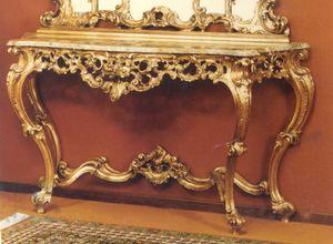 506 Console, Console de style baroque avec dessus en marbre