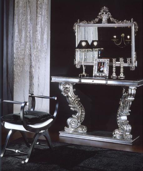 703 CONSOLE, Console avec Marquinia marbre, luxe classique