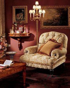 Albina console, Consolle en bois avec 3 tiroirs, fixation murale, style classique