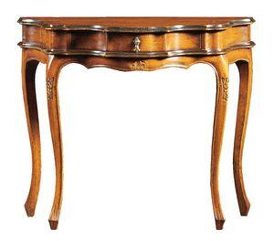 Annalisa FA.0005, Console baroque avec tiroir central, pour les environnements de style classique