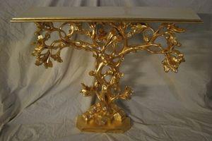 ARBRE CONSOLE ART. CL0062, Console en forme de arbre, sculptés à la main, doré