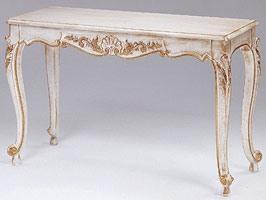 Art. 365 Mary, Consolle en bois décoré, dessus en marbre, pour les entrées