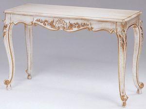 Art. 365 Mary, Consolle en bois d�cor�, dessus en marbre, pour les entr�es