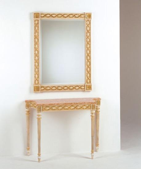 Art. 710, Console classique luxe, dessus en marbre, pour les entrées