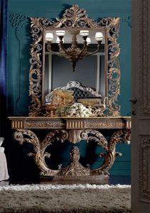 Barocchetto console, Console baroque pleine de sculptures