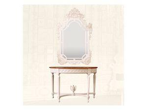 Console art. 206, Consolle en bois avec plateau en marbre rouge
