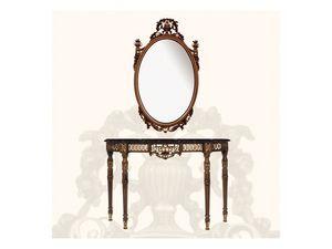 Console art. 239, Consolle en Style Louis XVI, en bois et en marbre noir