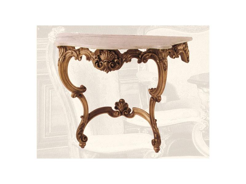 Console art. 241, Consolle en bois et de murs en marbre de style Louis XV