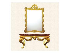 Console art. 258/a, Table avec pieds se terminant par une patte de lion, style Direttorio