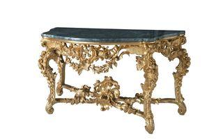 CONSOLE ART. CL 0002, Console sculpt� de style baroque, des h�tels de luxe