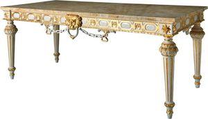 CONSOLE ART. CL 0007, Console doré de style Louis XVI pour les hôtels, dessus de marbre