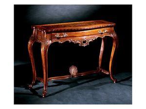 Console console 714, Console luxe classique en bois sculpté