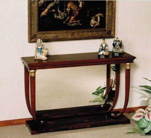 M 400, Console de style Empire avec plateau en bois ou en marbre