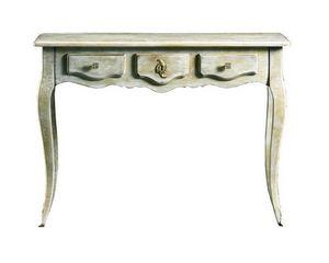 Matilde FA.0027, Console de style Louis XV avec un tiroir central, décoré en or, pour les hôtels