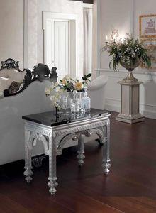 Opale console, Console avec dessus en marbre noir