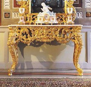 Opera console, Luxe console classique, sculpté à la main par des maîtres artisans italiens