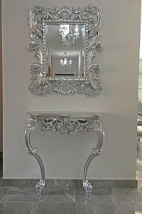 Sensual console, Console de style baroque, en bois massif sculpté